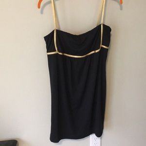 Simple black swimsuit cover